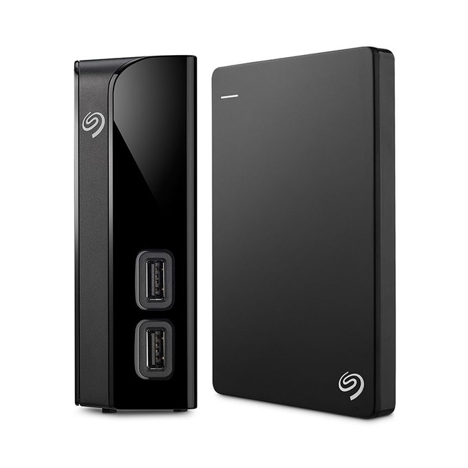 8TB - Backup Plus Hub External Desktop Hard Drive + 1TB Backup Plus Slim Portable USB 3.0 External Hard Drive - Black