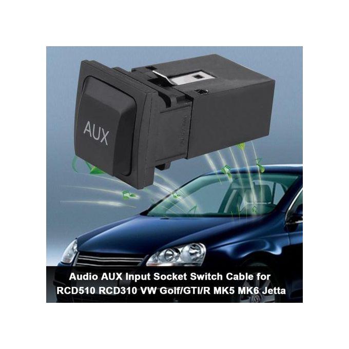Car USB Audio AUX Input Socket Switch Cable For RCD310 VW Golf/GTI/R MK5  MK6 Jetta 5KD035724