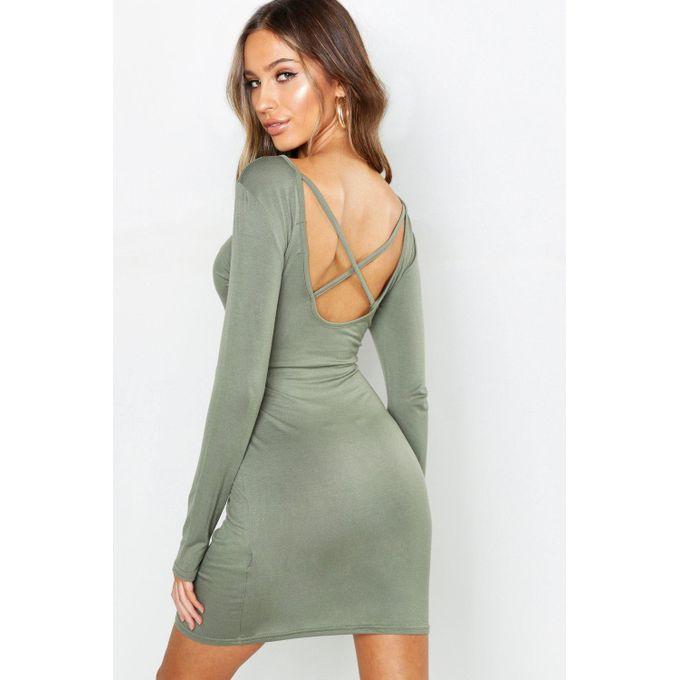 e2c607bf71e84 Sale on Petite Cross Back Bodycon Dress | Jumia Egypt