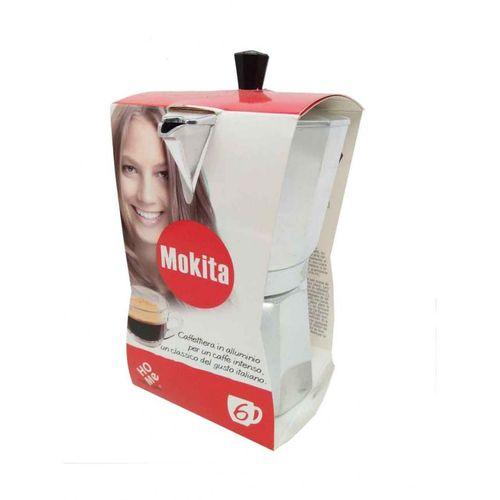 Italian Espresso Maker - 6 Cups - Silver