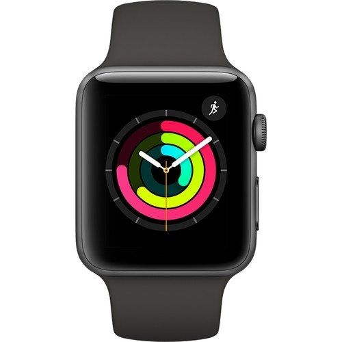 apple Apple Watch Series 3 Gps 42mm Space Gray Aluminum Case With Gray  Sport Band Watchos 4 MR362 9039cf015139