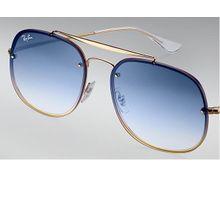fe9d331873117 Ray-Ban General Blaze Gold RB3583N 001 X0 58-16 Large Light Blue