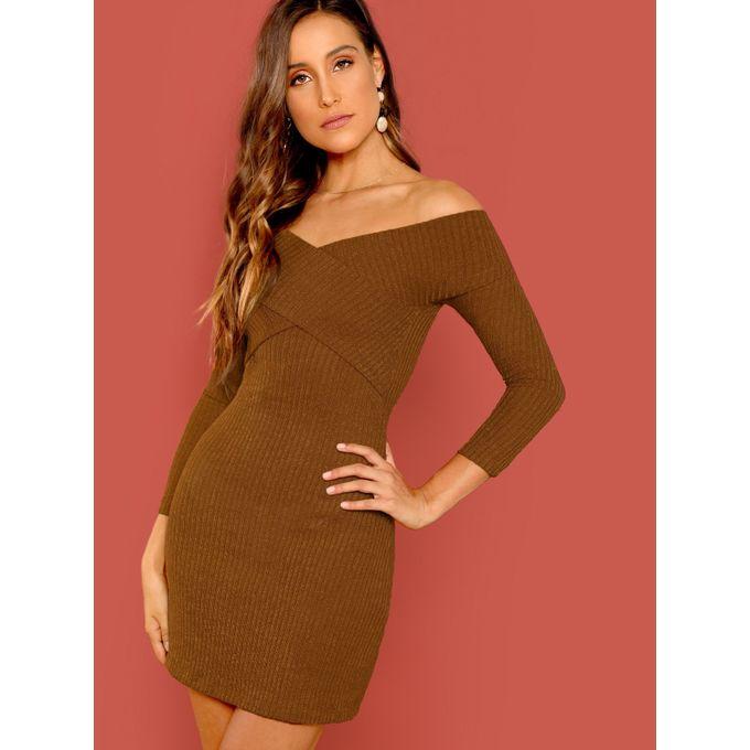 c8cc10a682 Sale on Cross Wrap Off Shoulder Dress   Jumia Egypt