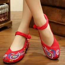 Type: Shoes<br />Gender: Women's<br />Upper Material: Canvas<br />Heel Height: Flat Heel<br />Toe Cap Shape: Round-toed<br />Style: Chinese Style<br />Pattern: Phoenix, Flower<br />Decoration: Embroidered Phoenix, Embroidered Flower<br />Season: Spring, S