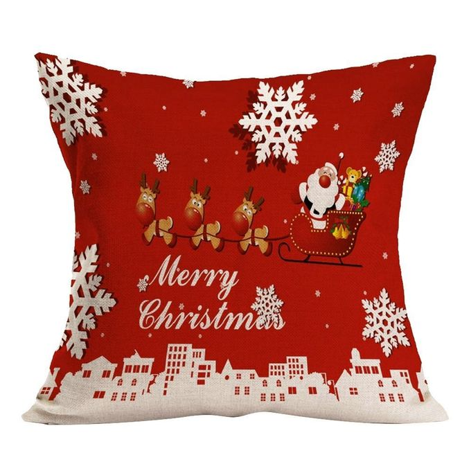 Christmas Pillow Covers 43*43cm,Beautiful Christmas Linen and Cotton Square Pillow Case Decorative Cushion Pillow Cover to Be a Good Gift –  مصر