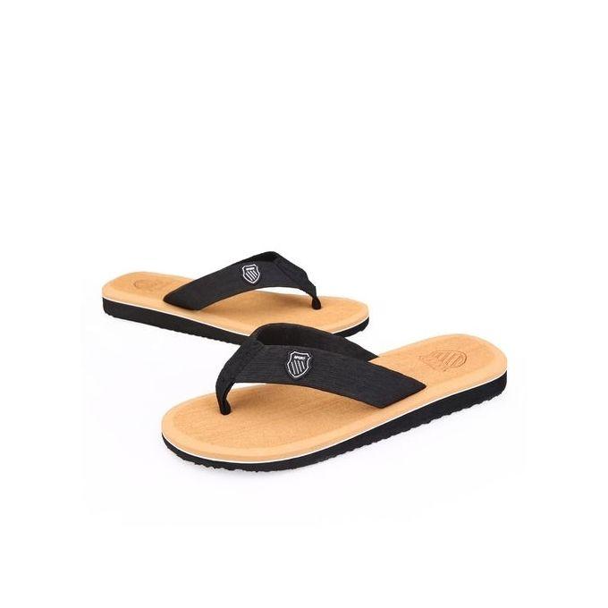 630540119 Sale on Mens Summer Flip Flops Fashion Beach Slippers Sandals-Brown ...