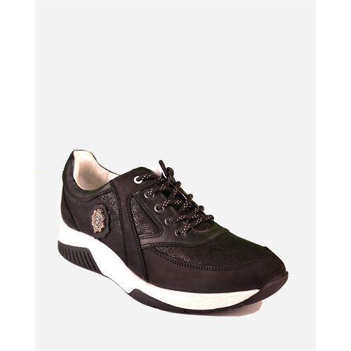 Leather Sport Shoes - Black