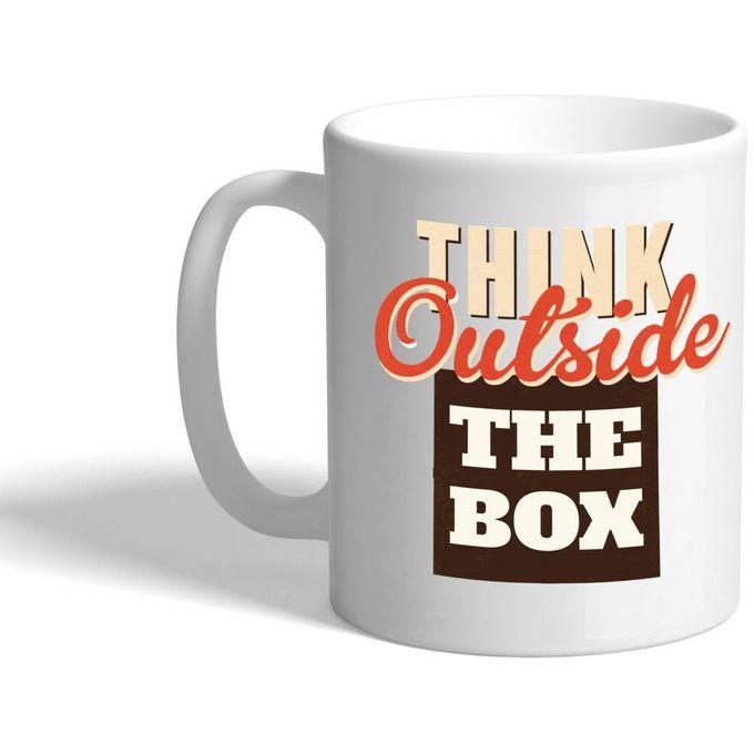 Think Outside The Box Ceramic Mug –  مصر