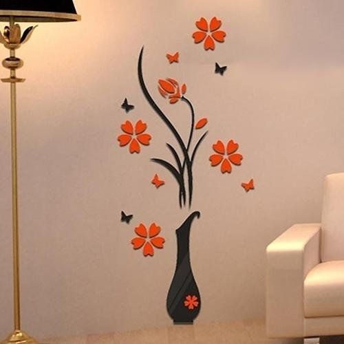 sale on removable 3d vase flower tree wall stickers home decal diy