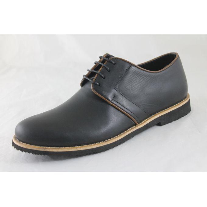 1e9b50fb9 حذاء كاجوال جلد طبيعي - اسود - Jumia مصر