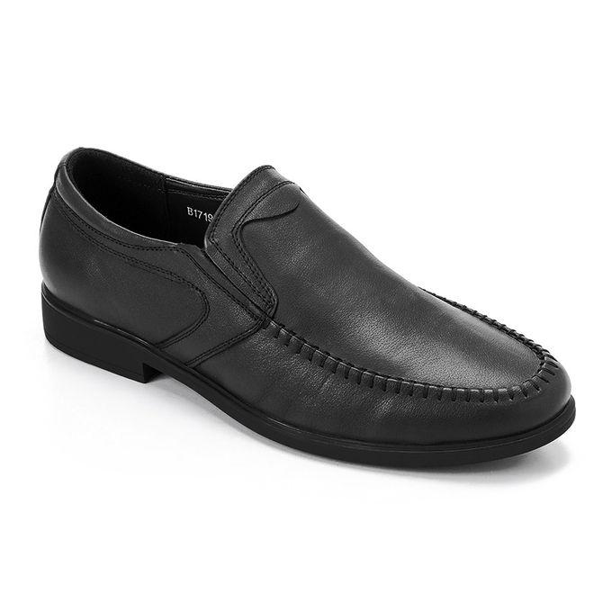 218398eb8 Men Slip On Classic Leather Shoes - Black - Jumia مصر