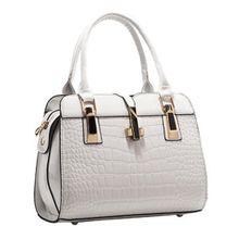 0a1556c86d725 Top-Handle Bags Women Silver Lock Bag Designer High Quality Leather  Shoulder Bag Tote Bag