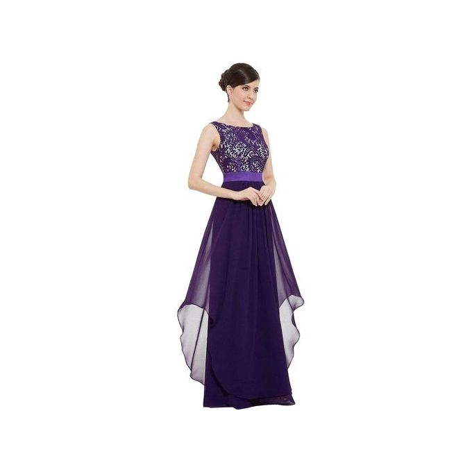 5afce600735d7 Noble Women Long Chiffon Lace Evening Formal Party Ball Gown Prom  Bridesmaid Dress