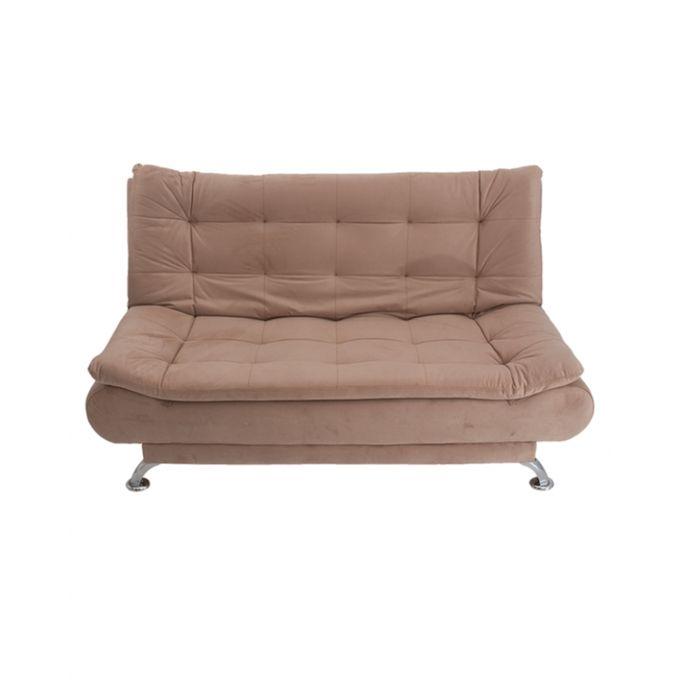 Art home 3 seaters velvet sofa bed 190x120 cm beige for 80 cm sofa bed