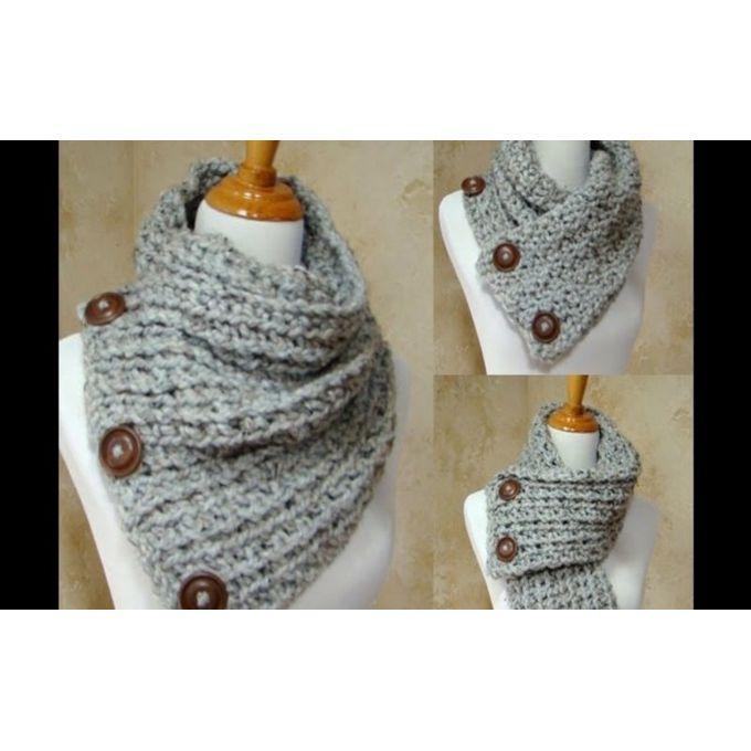 Sale On Crochet Scarf Grey Jumia Egypt