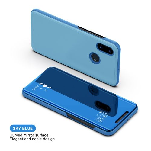 new product 5b914 94d00 For Redmi 5 Plus Durable Phone Case Mirror Flip Case For Xiaomi Full Cover  Flip Leather Cover Dirt-resistant Anti-knock-Blue