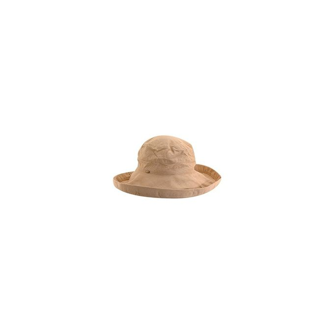 Scala Womens Cotton Hat with Inner Drawstring and Upf 50+ Rating [Desert, One Size]