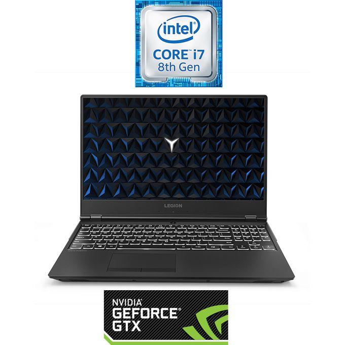Legion Y530-15ICH لاب توب للألعاب - Intel Core i7 - 16 جيجا بايت رام - 1 تيرا بايت درايف هارد ديسك + 128 جيجا بايت SSD - 15.6 بوصة FHD - 4 جيجا بايت مُعالج رسومات - DOS - أسود
