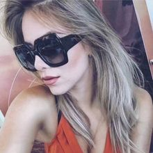 c94463b7f81 Eclipse Glasses NEW Oversized Square Luxury Sunglasses Gradient Lens  Vintage Women Fashion