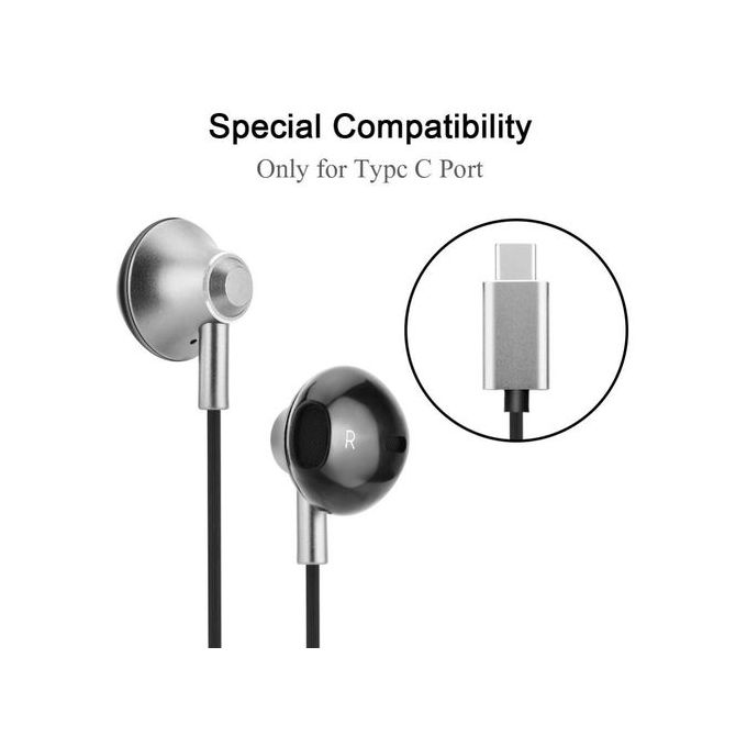 4D Surrounding Type C Earphones Waterproof Hands-free Call High Sensitivity  USB Type C Earbuds