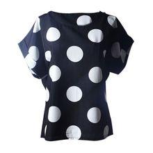 ea0925a22b7de Hiamok Women Blouses Short Sleeve Casual Flower Print Tropical Chiffon Shirt  L