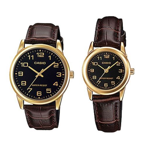 8b168e2e287ea Bundle Of Two Leather Watch - Brown Gold