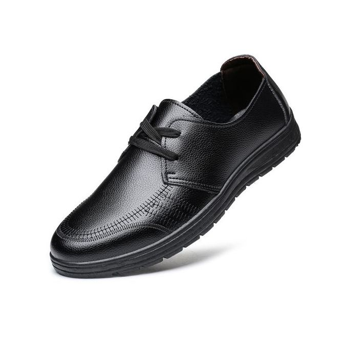 8d54d1880c8596 2018 Men's Classic Lace Up Leather Formal Shoes Men Genuine Leather Casual  Shoes