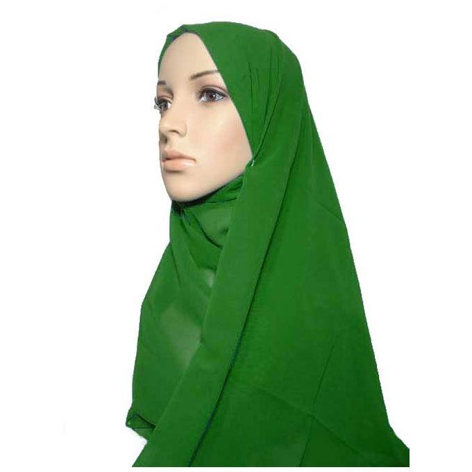 حجاب من الشيفون - 70 × 175 سم - أخضر