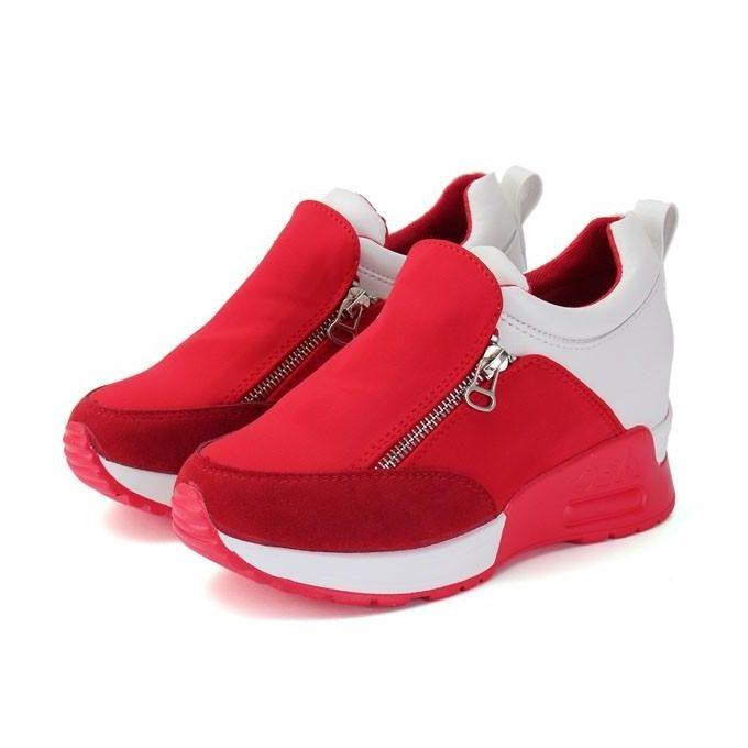 60cacacda414 New Casual Women s Sneakers Zip Wedge Hidden Heel Running Sport Shoes  Trainers-EU