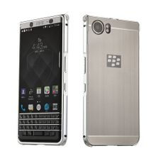 Blackberry KEYone Case , Luxury Metal Bumper + Brushed Hard Plastic Back Cover 2 In 1