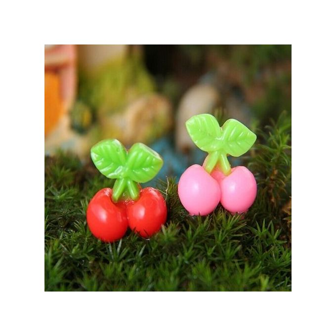Simulation Cherry Ornaments Flower Potted Plant Craft DIY Decoration Garden –  مصر