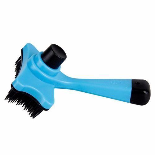 Pet Brush Hair Fur Shedding Trimmer Grooming Rake Comb Brush Tools-Blue