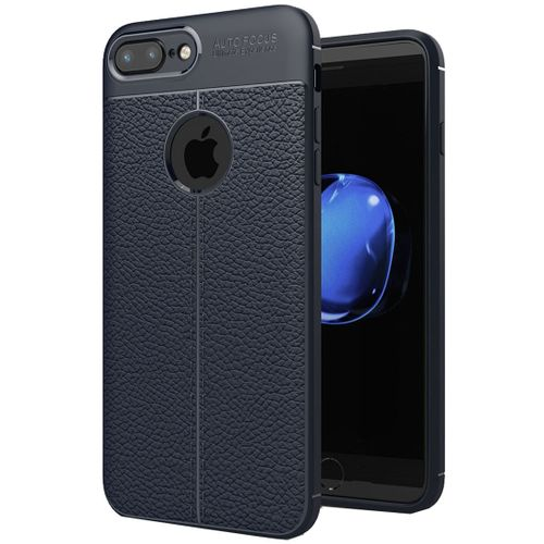huge discount 6325e 3d02a For IPhone 8 Plus And 7 Plus Litchi Texture TPU Protective Back Cover Case  (navy)