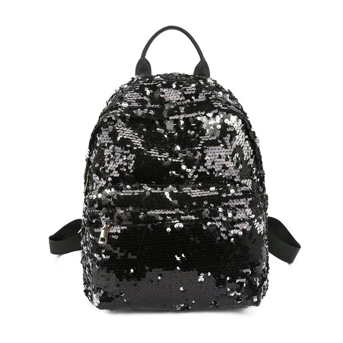 f0548266bacb5 Fashion Women Backpack Shoulder Bag Full Sequins All-match Style ...