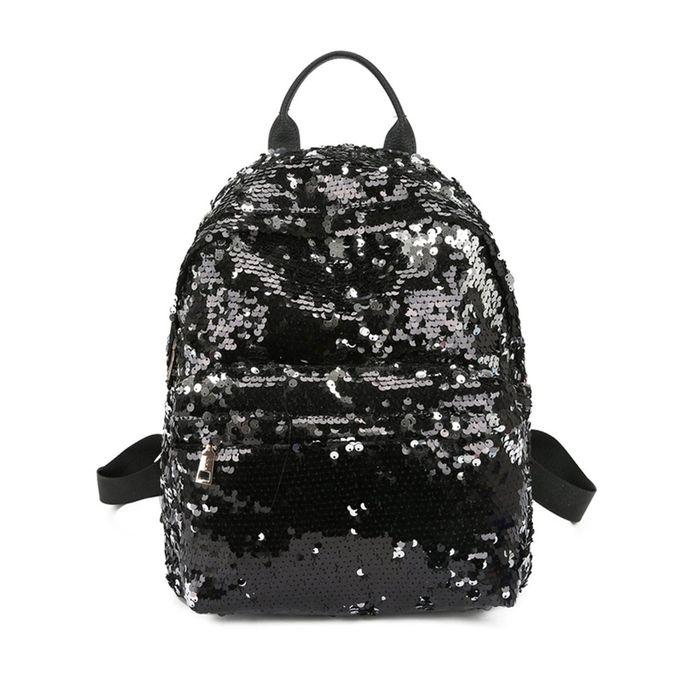 f0548266bacb5 Fashion Women Backpack Shoulder Bag Full Sequins All-match Style ...