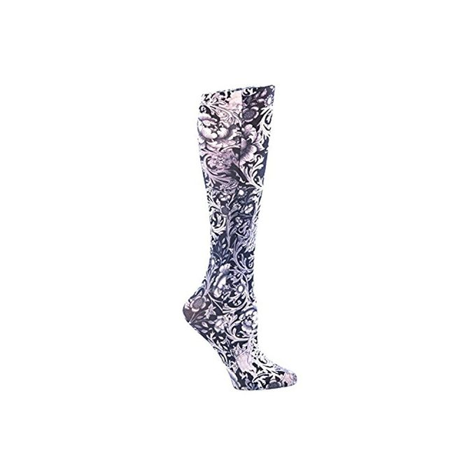 Celeste Stein BW Vines and Roses Fashion Compression Sock 8-15 mmHg [Bw Vines and Roses]