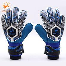 af5cb4835 Soccer Professional Youth Goalie Gloves Fingersave Goalkeeper Gloves Finger  Protection Size 5 6 7 High Quality