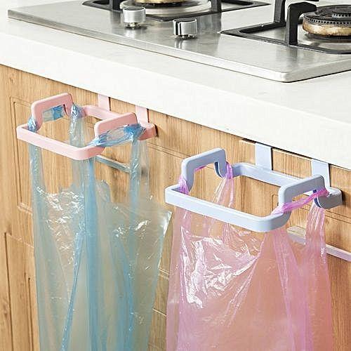 Blue White Towel Bar Holder Over The Kitchen Cabinet Cupboard Shelf Rack Rail