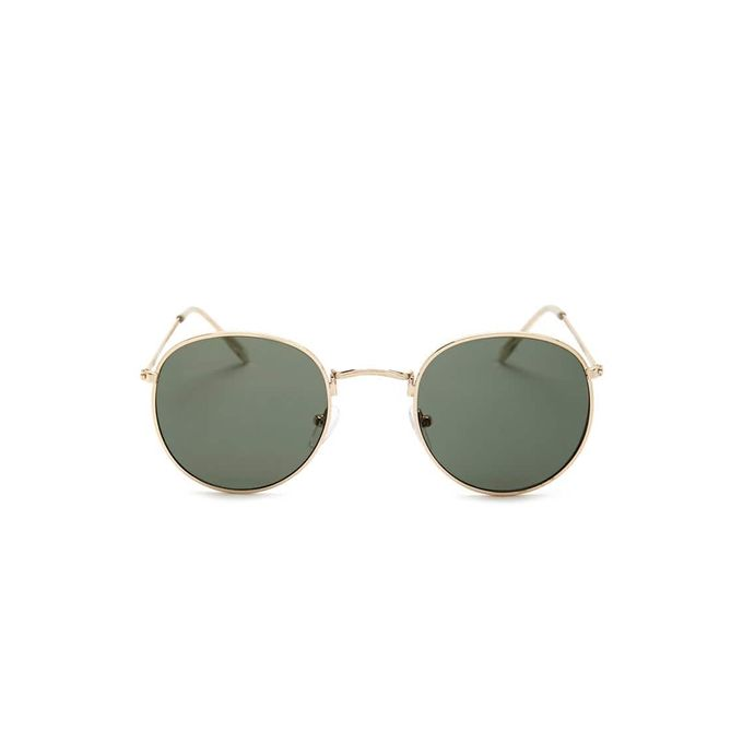 Etched Round Sunglasses