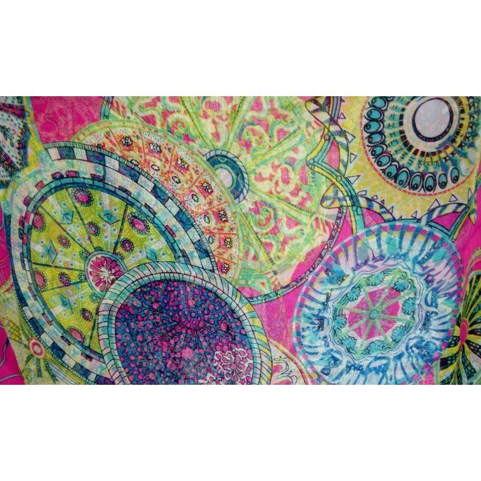 Chiffon Floral Scarf - Multicolour