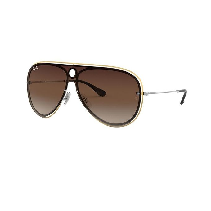ed2da2b81ae Sale on Ray-Ban Blaze Shooter RB 3605N 9096 13 Gold Silver Brown ...