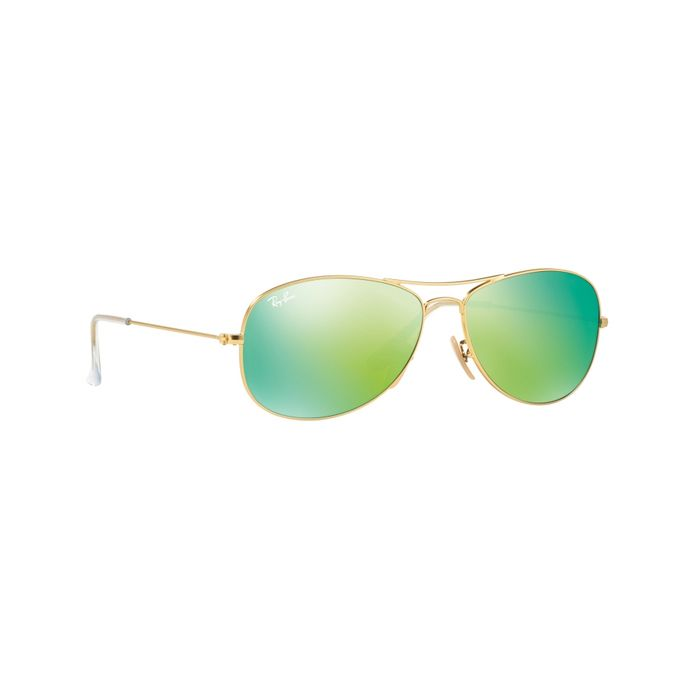 a72e91ad5b Ray-Ban Cockpit Aviator Sunglasses In Gold Green Mirror RB3362 112 19