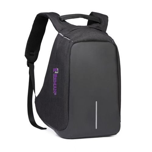 82be6cd95bd1 REMAN Business Waterproof Laptop Backpack With USB Charging Port   Headphone