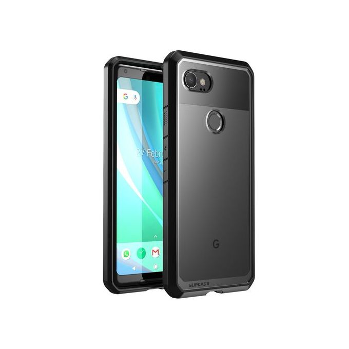 release date fbe32 26d9f Google Pixel 2 XL Case Premium Hybrid TPU And PC Protective Clear Case  Transparent Back Cover (Black)
