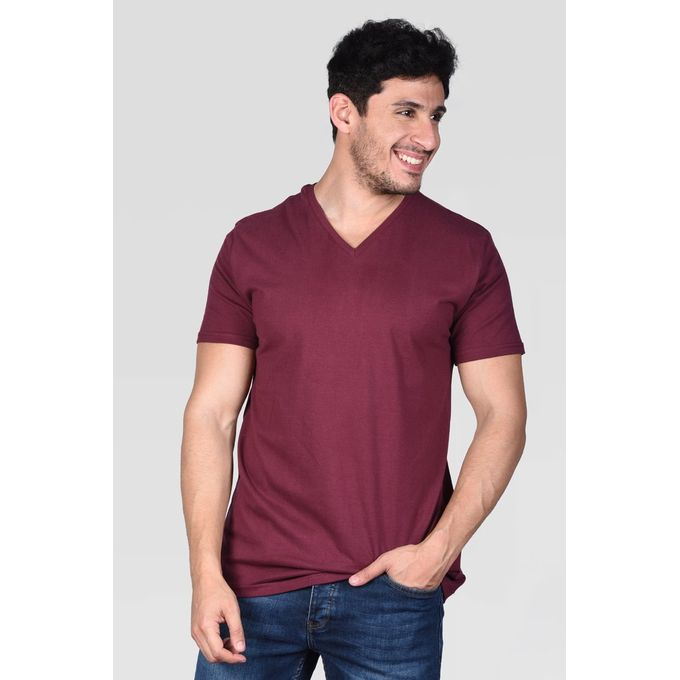 bb393d51b4 Sale on Men V Neck T-Shirt -Dark Red | Jumia Egypt