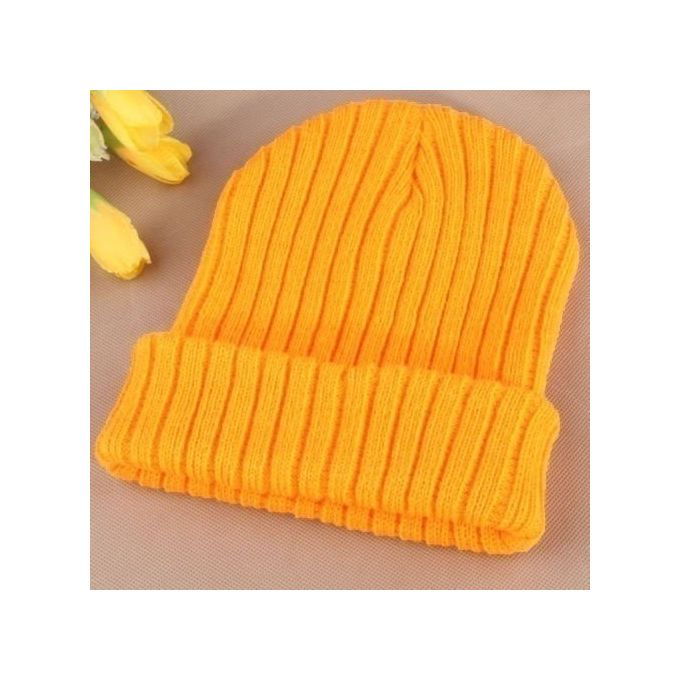 42c4e855a Fashion Men Women Beanie Knit Ski Cap Unisex Wool Hip-Hop Winter Warm Skull  Hat Fluorescent Yellow
