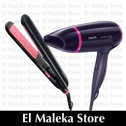 b43657ffc HP8323 Essential Care Straightener - 210°C + BHD002 Essential Care Hair  Dryer - 1600