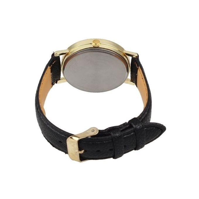 classic earth world map watch alloy women analog quartz wrist watches bk black