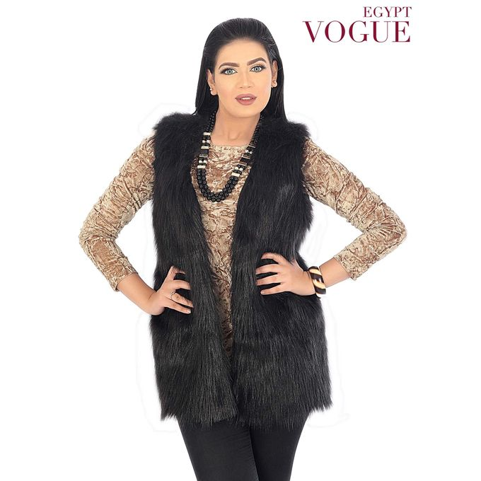 Sale on Fur Vest-Black  9b1d61152794
