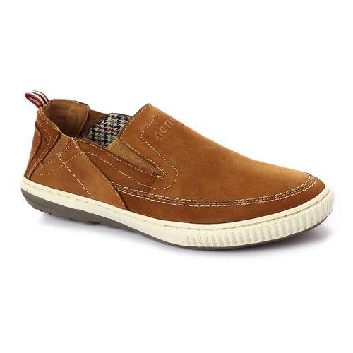 Elegant Slip On Suede Loafers - Light Brown